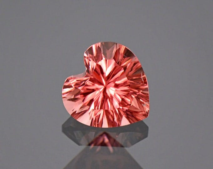 Excellent Concave Pink Heart Tourmaline Gemstone from Afghanistan 1.90 cts.