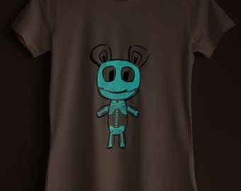 Skeleton Teddy Glow-in-the-dark Woman T-shirt