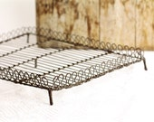 Antique Cake Cooling Rack - French Wire - Vintage Wirework Bakeware - Photo Prop