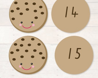 Cookie Number Match Printable Game AUTOMATIC DOWNLOAD