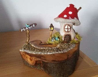 Toadstool Fairy cottage