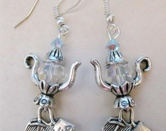 Alice in Wonderland Teapot Earrings  C364