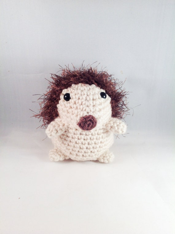 Amigurumi Stuffed Animals : Crochet Amigurumi Hedgehog Plush Stuffed Animal