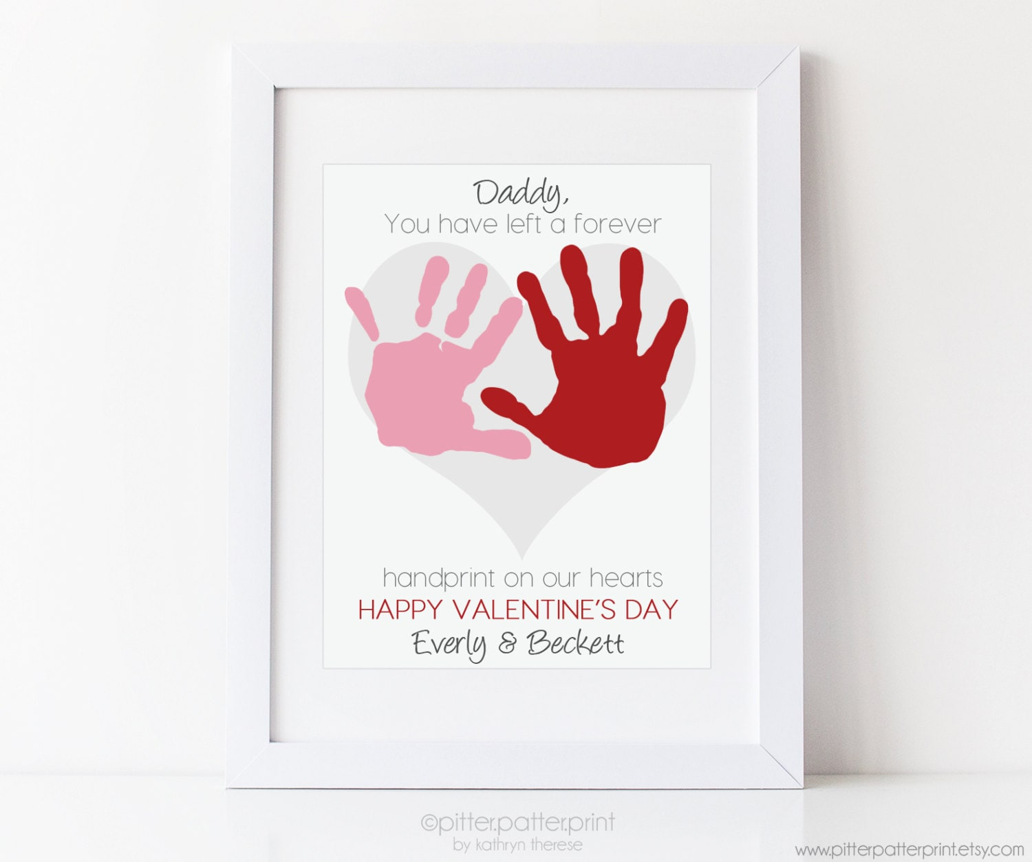 Dad Valentine's Day Gift For Daddy From Kids By