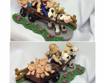 Fimo Pets on Parade Pig Wagon