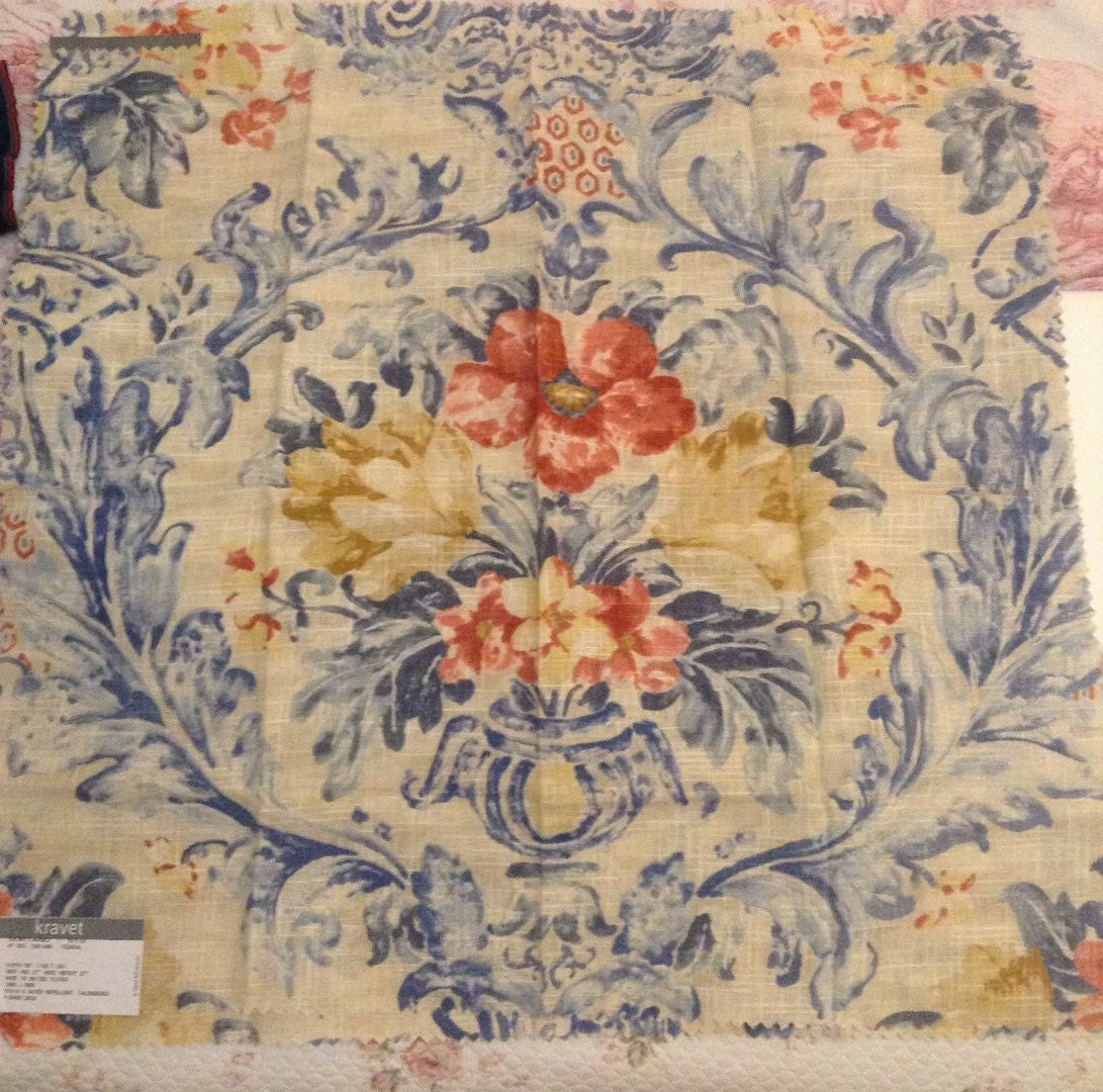 French Country Pierre deux fabric Soriano color federal