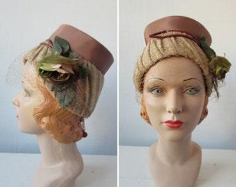 1960s hat | vintage 1960s hat | vintage bucket hat | autumn  hat | floral hat | flower hat | small | The Tincelle Hat