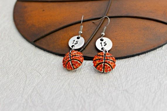 basketball earrings basketball basketball jewelry