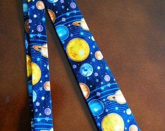Galaxy Tie/ Planet Tie/ Solar System Tie/ Universe/ Planetary/ Astrology Tie
