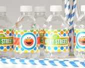 Sesame Street Water Bottle Labels - Sesame Street First Birthday - Printable Drink Wraps Water Bottle Labels - Elmo First Birthday Part