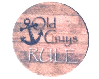 Auto Coasters, Car coasters for your cars cup holder, Makes a great gift - Set of two absorbent Car Coasters, Free Shipping, Old Guys Rule