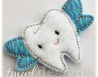 """Tooth Fairy Feltie Digital Design File - 1.75"""""""