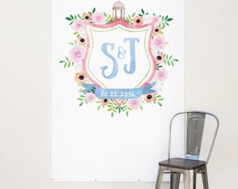 Custom wedding logo design, Wedding Crest Design, Watercolor Wedding Monogram - Design Fee