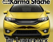 """36"""" Car Mustache Vinyl Decal Sticker - Style; Lumberjack - Color; Black  -  Karma Stache: Your #1 Source for Car Mustaches!"""