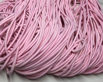 6 feet of 2.5mm Light Pink Elastic Cord