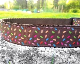 Sprinkles 1 Inch Width Dog Collar
