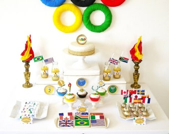 Olympics Inspired Party Printables Supplies & Decorations