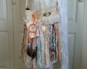 Tribal Boho Chic Gypsy Fringe Bag - Bohemian Bag - Navajo Dream Catcher - Cross Body Boho Chic Gypsy Bag - Free Spirit Bag - Romantic Bag