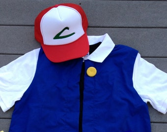 6/7  Boy's POKEMON Trainer - ASH Ketchum  Costume  -  Cosplay
