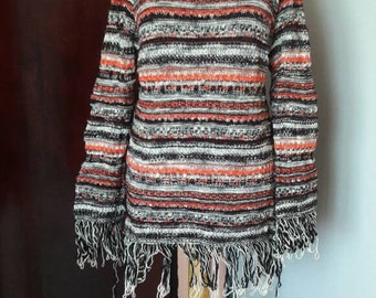 Knit Boho Sweater Festival Top Fringed Sweater Loose Fit Sweater Women Fashion Clothing Gift Ideas
