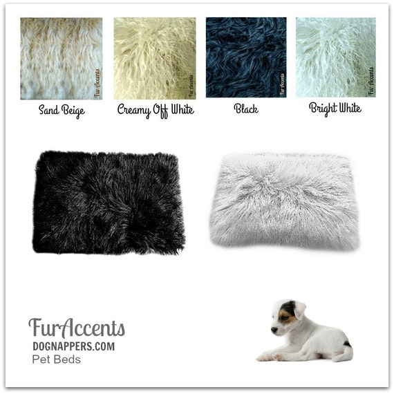 SALE Dog Bed Pet Cat Mat Faux Fur Shaggy Padded By FurAccents