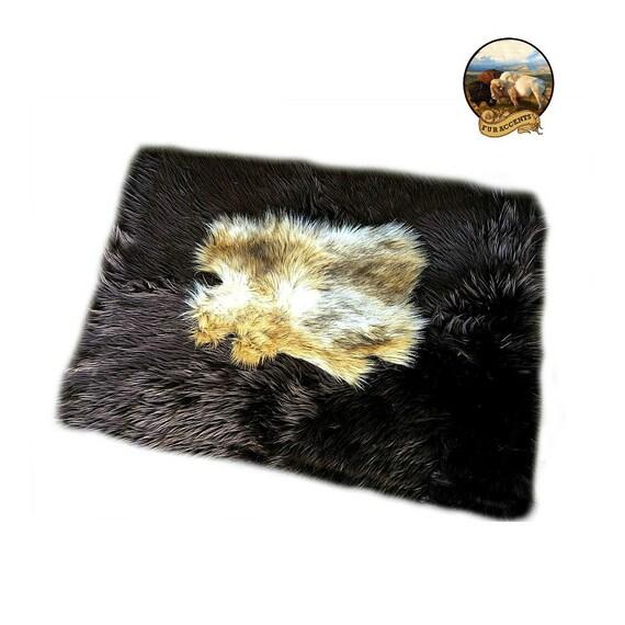 Luxurious Shag Rug Vibrant Chocolate Brown Bear Skin Pelt