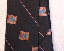 Inverted Jenny Stamp Vintage Tie/ Vintage clothing/ Philately/Air Mail/ Smithsonian/ Inverted Jenny/ vintage cravat