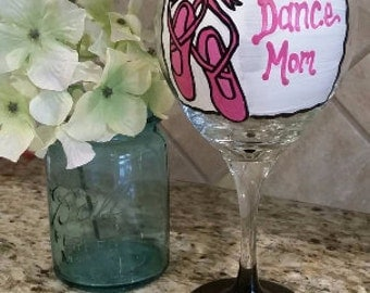 RX: Wine Qd Hand Painted 20 oz Wine Glass perfect by