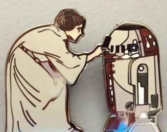 Princess Leia R2D2 Star Wars pin