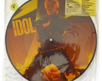 "Vintage 80s Billy Idol Eyes Without a Face Picture Disc 12"" Single Record Vinyl"