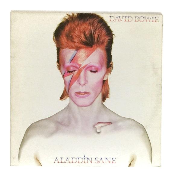 Vintage 70s David Bowie Aladdin Sane Gatefold Album Record Vinyl LP
