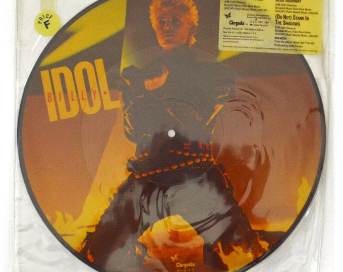 """Vintage 80s Billy Idol Eyes Without a Face Picture Disc 12"""" Single Record Vinyl"""