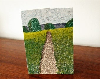 Colworth to Goodwood Path Landscape Greeting Card
