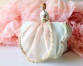 Vintage boudoir doll lamp half doll flapper girl bed lamp romantic shade lighting