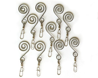 Swivel Ornament Hooks Set of 10 - Christmas Decorations Turn Freely Allowing Ornaments to Shine - Holiday Tree Accessory
