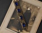 1930s Blue Czech Glass Bracelet