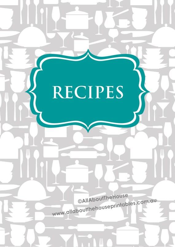 recipe binder printables recipe sheet recipe card kichen