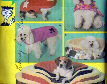 Dog Bed Covers Sewing Pattern, Dog Coats Pattern, For Dogs 12 to 18 Inches Long, Simplicity 4793, See Pics for Details