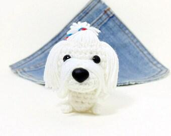 Amigurumi Pug Dog French style crochet Pug. Dog crochet
