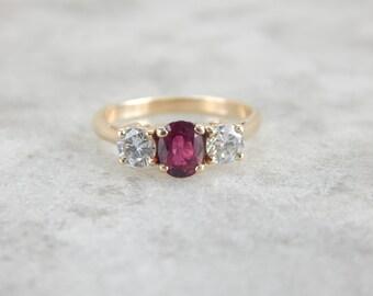 Past, Present, Future, Ruby Anniversary Ring YWJ2J6-R