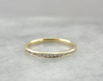 Thin Diamond Band for Wedding or Stacking, Perfect for Wearing Alone or Layering  R9R3KR-D