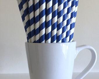 Blue Milkshake Thick Paper Straws Party Supplies Party Decor Bar Cart Cake Pop Sticks Mason Jar Straws Graduation Party Graduation