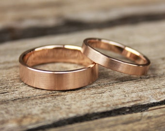 Classic weddingbands 14k rose gold