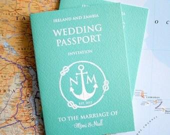 Passport Wedding Invitation (sample pack)