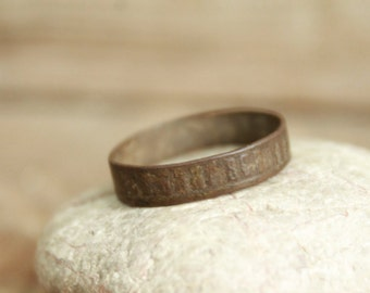 antique ring ... jewelry rusty ring ... from an arhceological dig ...  found object ... ancient  rare