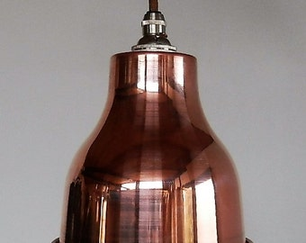 copper industrial lampshade