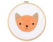 Kitten - Hoop Art Kit
