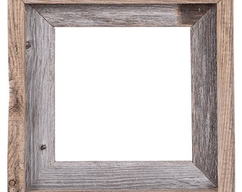 8x8 2 wide barnwood reclaimed wood open frame no glass or back