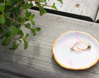 Pink Marble Jewelry Dish
