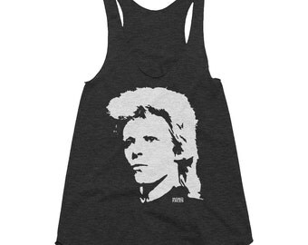 David Bowie Womens Tank Top, David Bowie Shirt, Customized Tank Top, Personalised Tri Blend Tank Top, Ziggy Stardust, Custom Girlfriend Gift